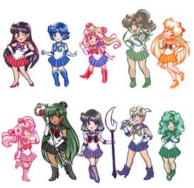 Sailor Soldiers, Sailor Moon. Digital, 2016