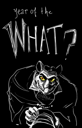 Ratigan, The Great Mouse Detective, celebrating the year of the rat. Digital, 2020.