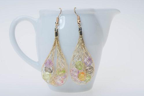 Fishnet & mix acrylic beads フィッシュネットとミックスカラーのアクリルビーズ
