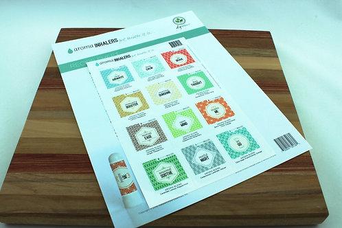 Inhaler Recipe sheet and Labels