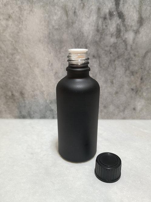 50ml Glass Bottle - Matt Black