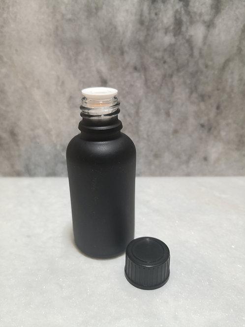 30ml  Glass Bottle - Matt Black