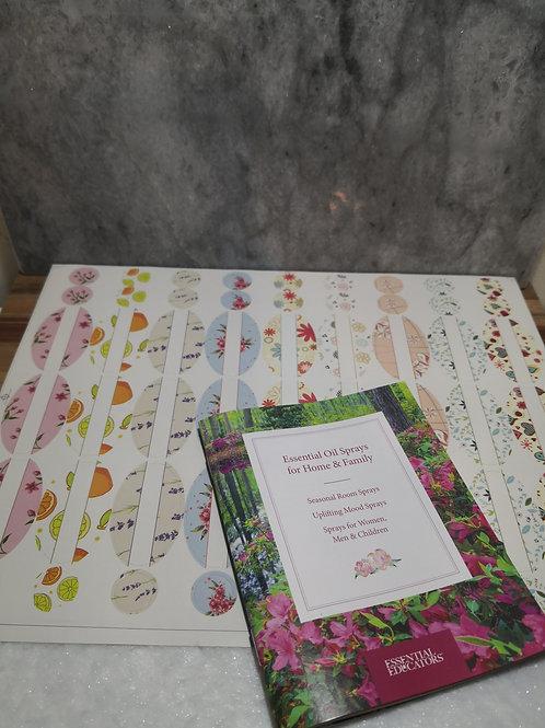 Booklet - Essential Oil Sprays and DIY Label Set