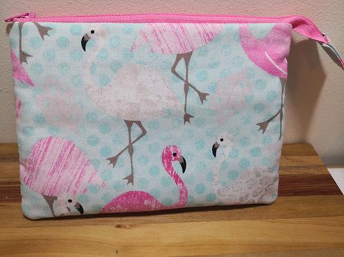 Medium Roller Pouch - flamingo