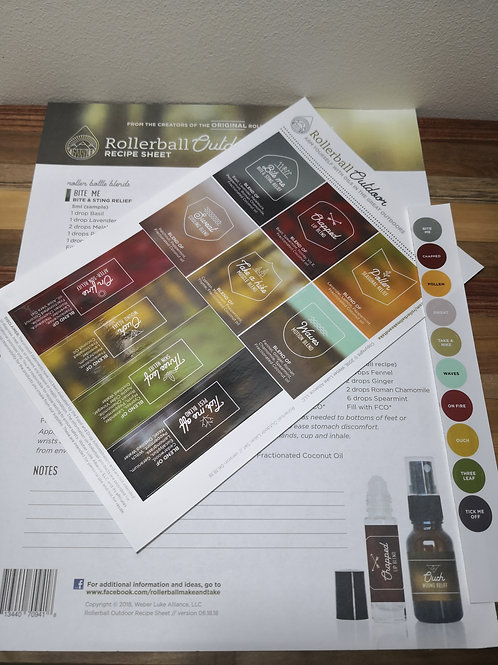 Outdoor Recipe sheet and Labels