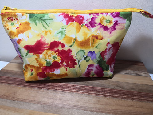 Large Pouch - yellow floral