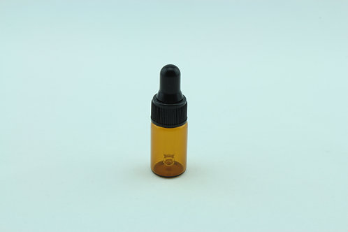 3ml Glass Dropper Bottle - Amber x 25