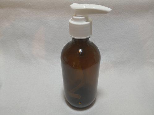200ml Glass Pump Top Bottle - Amber