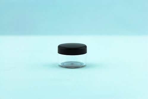 5ml Lip Balm Pot - Clear/black lid