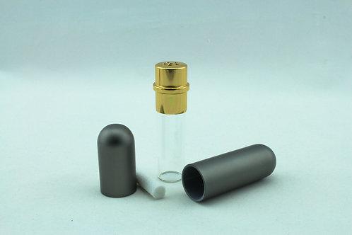 Aluminium and Glass Nasal Inhaler - Grey