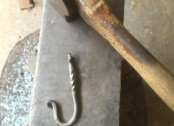 Simple twist hook.