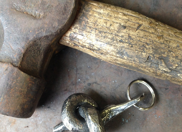 Forget me knot key ring