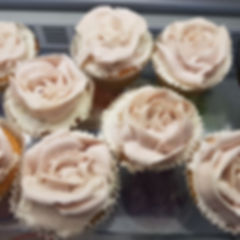 Vegan rose cupcakes from good intenions cafe