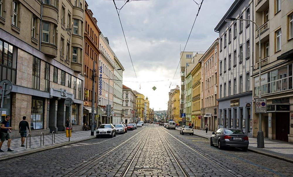 Street near Machova Dorm