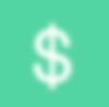 Знак доллара - зеленый