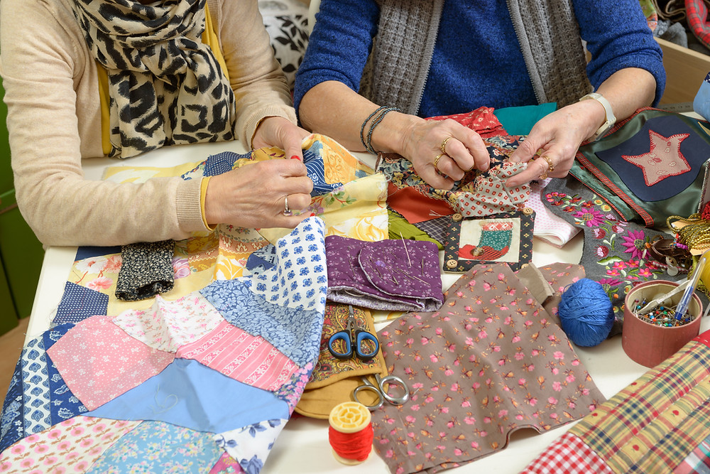 Create quilts from fabric scraps or old garments