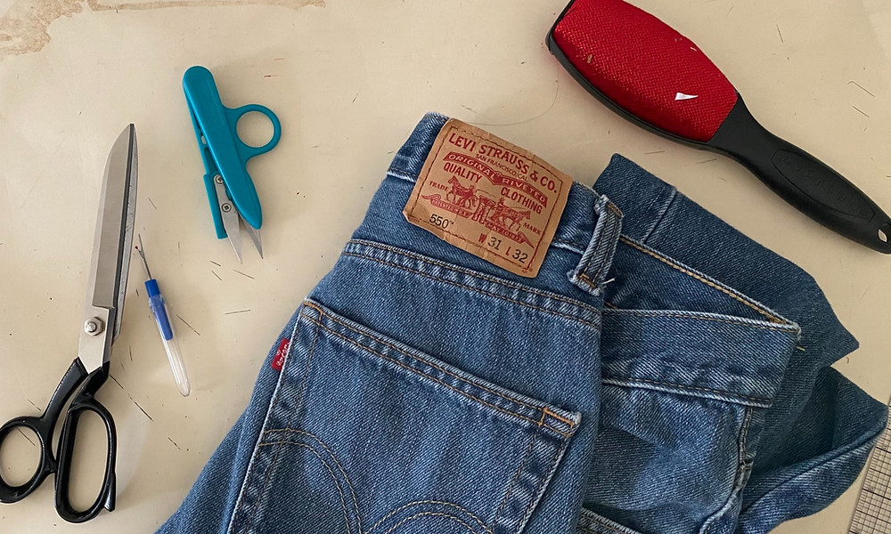 If you are thinking about which tools you might need to start upcycling, then this guide to the top 4 tools I use the most when working on repurposing jeans will really help!