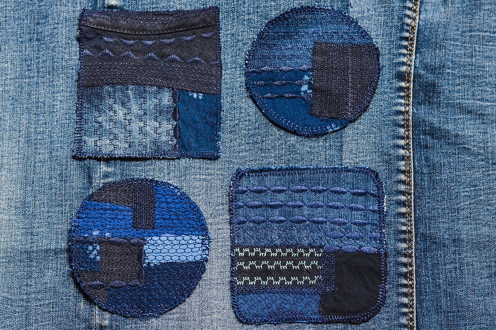 Customize secondhand denim jeans and jackets with embellishment