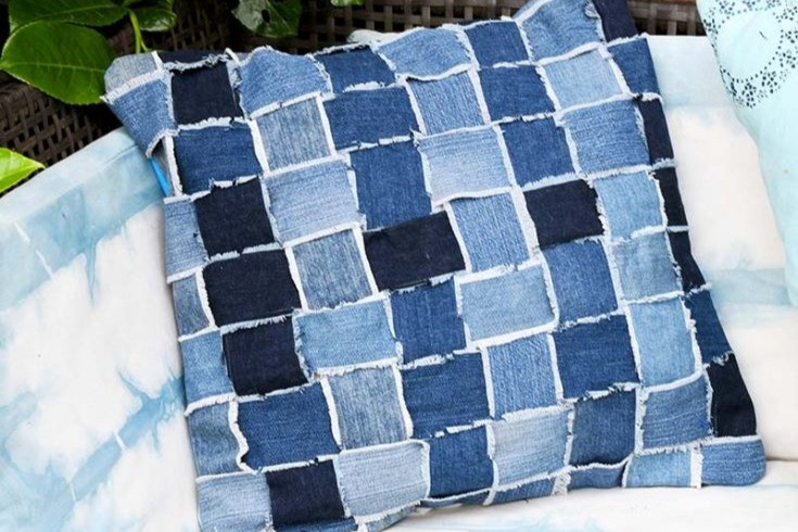 Create upcycled pillows