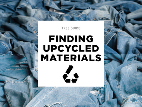 How to Find Upcycled Materials and NOT Get Lost in the Process