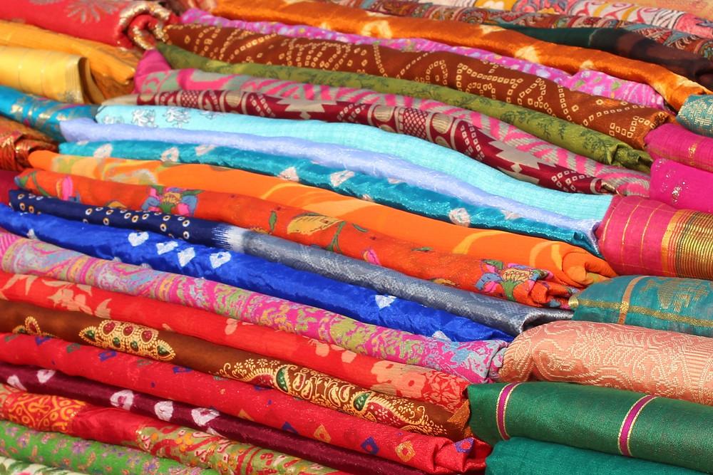Repurpose sari's into dresses