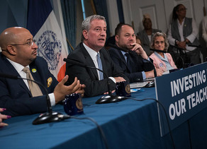 Mayor de Blasio, Speaker Johnson Help District Council 1707 Local 205 and the Day Care Council of Ne