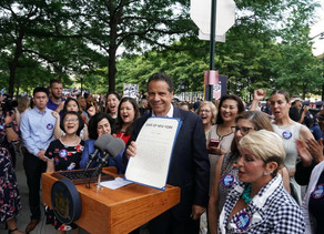 At Ticker-Tape Parade Celebrating The World Champion U.S. Women's Soccer Team, Governor Cuomo Si