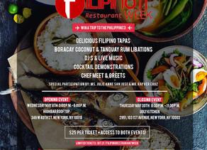 Filipino Restaurant Week Begins May 13; New York Launch on May 8