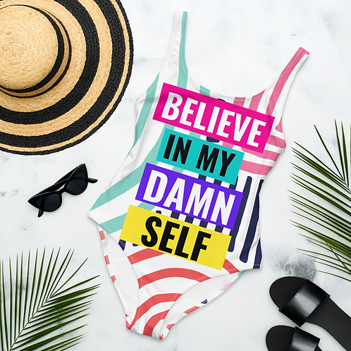 Believe In Yourself Multicolored Swimsuit - One Piece