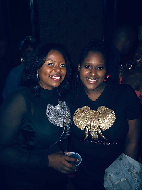 Women's Black Afroartbeats Handcrafted Tee