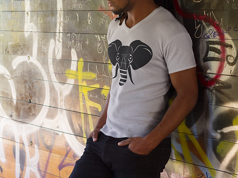 young-black-man-wearing-a-v-neck-t-shirt