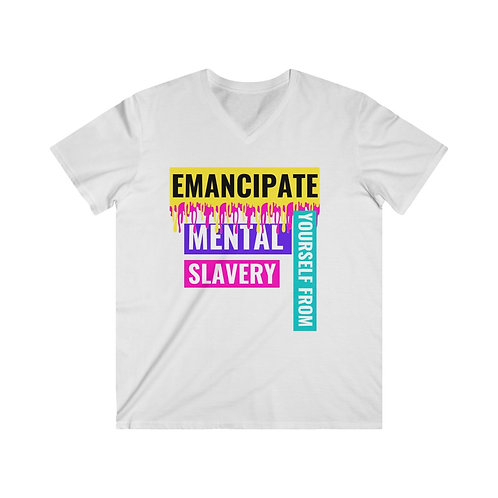 Afroartbeats Emancipate Yourself King V-neck T-Shirt