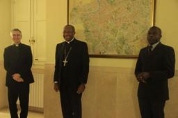 Visita di Mons. Launay Saturné, vescovo di Cap-Haïtien (Haiti).