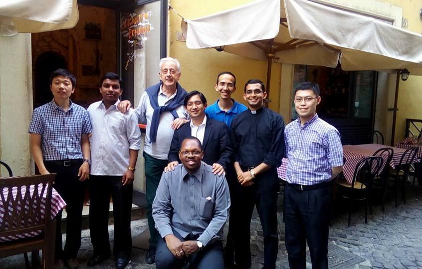 Con Roberto, il nostro caro insegnante d'italiano.