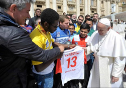 Clericus Cup. Saluto del Papa ai finalisti.