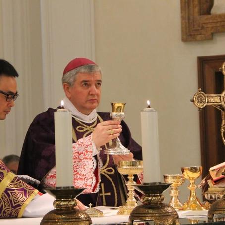Con il Vescovo di Bayonne