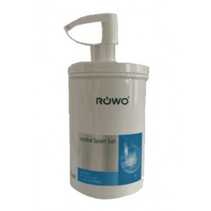 1 Litre ROWO Herbal Sports Gel Pump  Exp Oct 2025
