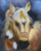 War Horse  16X20 acrylic