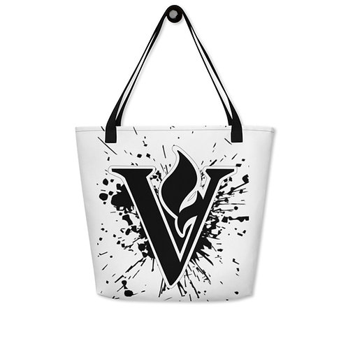 V Flame Paint Beach Bag