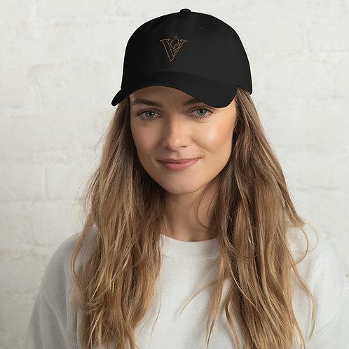 V Flame Gold Line Dad hat