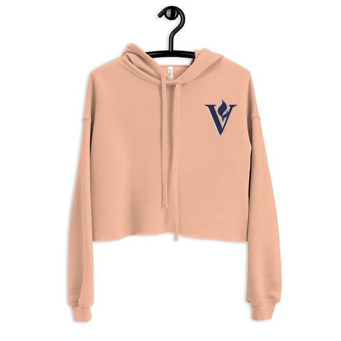 Women's V Flame Crop Hoodie