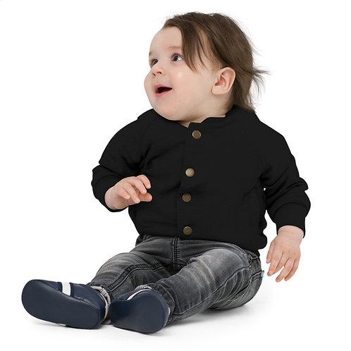 V Flame Paint Baby Organic Bomber Jacket