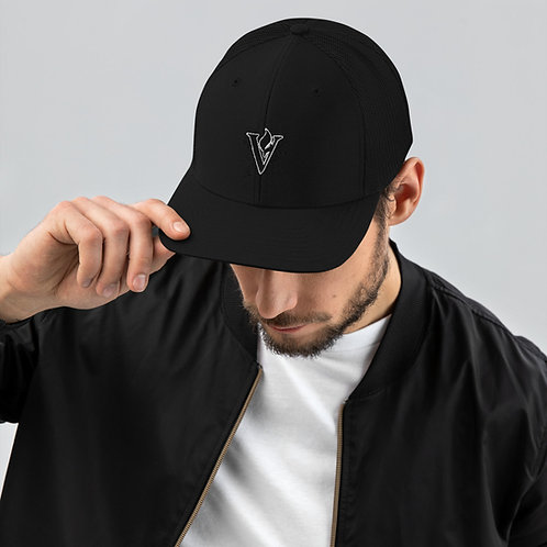 V Flame Paint Trucker Cap