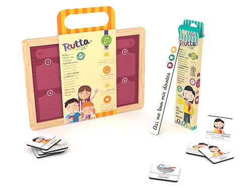 Kit tablero imantado Rutta + Fichas lavado de dientes