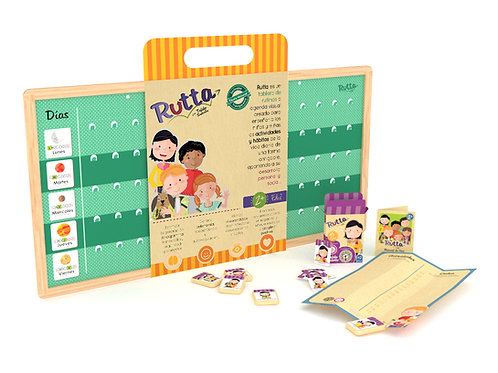 Rutta - Kit semana plus (tablero + 45 fichas básicas + 30 complementarias)