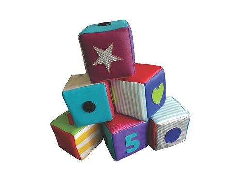 Blick - set de 6 cubos sensoriales pre-braille