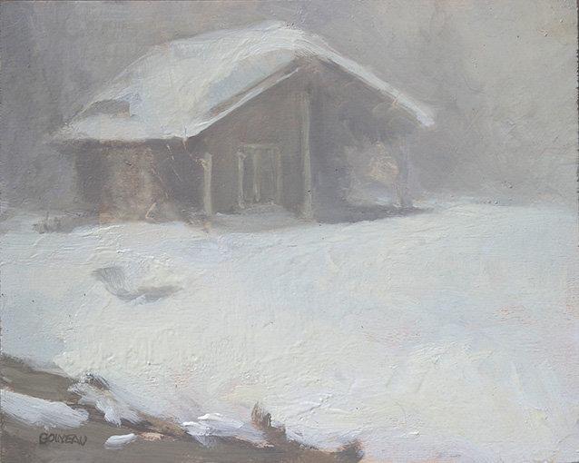 """""""Le chalet dans la brume"""""""