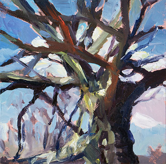 « Un petit nuage passe derrière l'arbre »