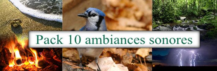 Pack de 10 ambiances sonores | Cybelplace