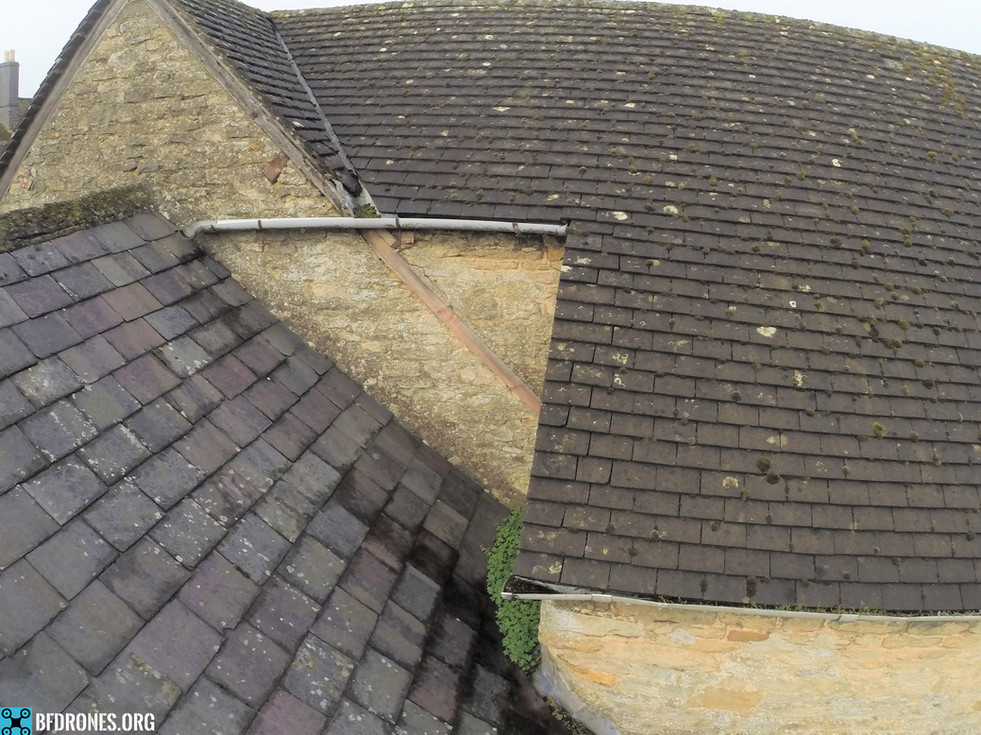 Blocked and damaged gutters & hidden val